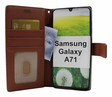 Samsung Galaxy A71 - New StandCase Wallet - Brun