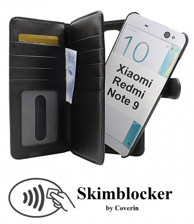 Xiaomi Redmi Note 9 - Skimblocker XL Magnet - Sort
