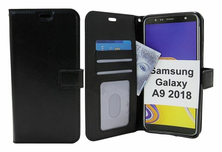 Samsung Galaxy A9 2018 - Crazy horse Wallet - Sort