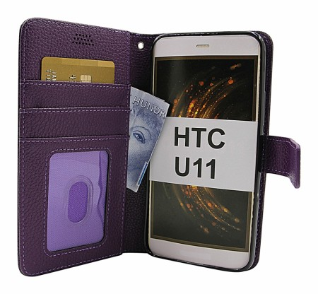 HTC 11 - New Standcase Wallet - Lilla