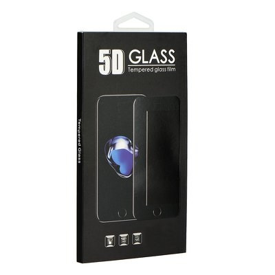 iPhone 6Plus / 6s Plus - 5D Full Glue Herdet Glass - Sort