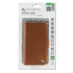 "4smarts Universal Flip Case UltiMAG LANEWAY Wallet up to 5.2"" brown"