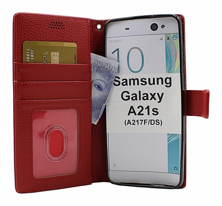 Samsung Galaxy A21s - New Standcase Wallet - Rød
