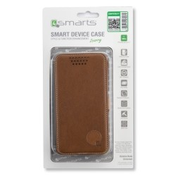 "4smarts Universal Flip Case DALSTON up to 5.1"" brown"